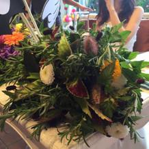 ブーケに合わせた花冠も作ってもらいました