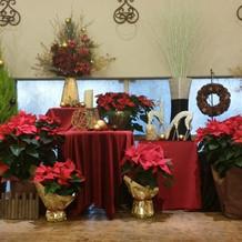 クリスマス仕様の装飾