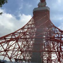 東京タワーの真横です