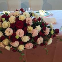 花の内側に女優ライトが置いてあります。