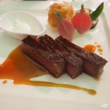 国産牛サーロインのパヴェステーキ
