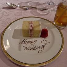 ケーキもおいしい