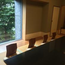 和室は、結納の会食部屋としても使用可。