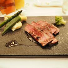 15,000円コースの肉料理