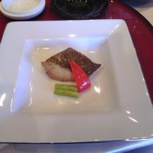 メインの魚です