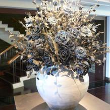 ジーンズの造花です