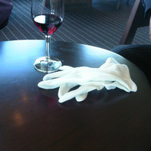 ウエルカムドリンクにワインもあります