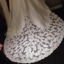 式で着たドレス。写真映えして綺麗でした。