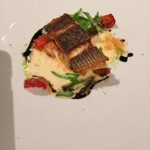魚料理です