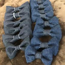 男性には手作り蝶ネクタイ