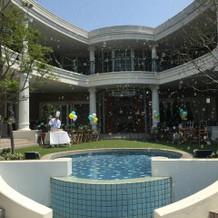 ビバリーヒルズ邸の中庭