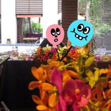 ゲストから見たメインテーブル。