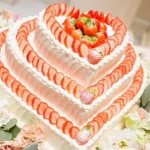 1番人気のウエディングケーキ