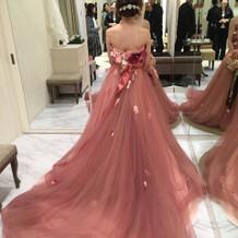 いろんな種類のカラードレスがありました!