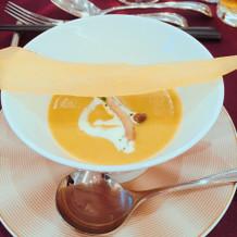 スープ。秋らしくて美味しくて好評でした