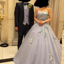 ゲストにも母にも大好評のドレス