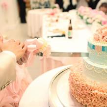 オリジナルウェディングケーキ。