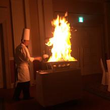 炎の演出です。とても迫力あります。