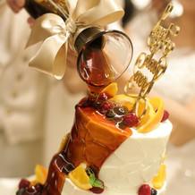 カラードリップケーキ。