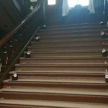 披露宴会場へ行く階段