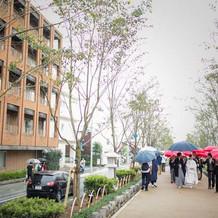 鶴岡八幡宮まで段葛を歩いて入場できる。