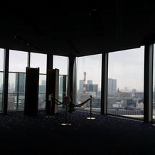 高層階にある披露宴会場です