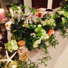 お花も、すごくお洒落でした。