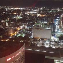 会場から見える夜景です。