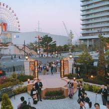 大階段からの景色は神戸を味わえます。