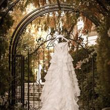 お気に入りのweddingドレスです。