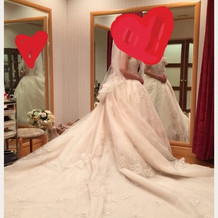 ロングトレーン 白ドレス