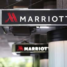 マリオットホテルのエントランス部分