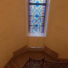 螺旋階段。ここで写真を撮りました