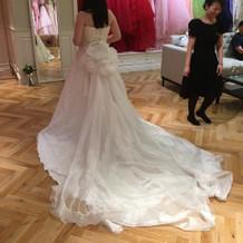 希望のトレーン取り外し可のドレス