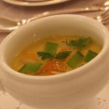 ランクアップした茶碗蒸しのようなスープ。