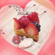 ケーキの試食