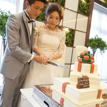 可愛いケーキに大満足でした。