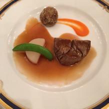 一番好評だった肉料理。