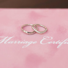 指輪と誓約書
