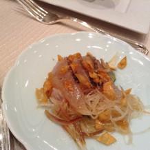 鯛を使ったサラダ