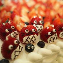 トトロのケーキ。