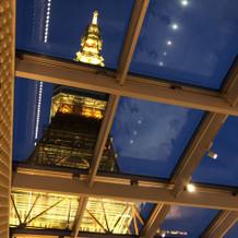 東京タワーの迫力がすごい。