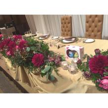 お気に入りのメインテーブルです。