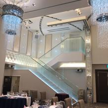 披露宴会場の階段です