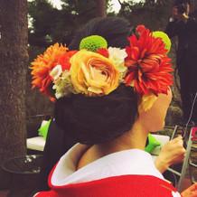 生花のヘッドパーツ