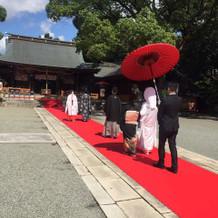 赤絨毯で歩けてすごく思い出に残りました!