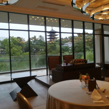 五重塔と猿沢池が一望できる披露宴会場