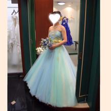 爽やかカラードレス