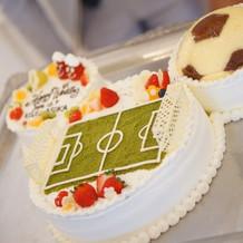 ミッキー型 サッカーケーキ