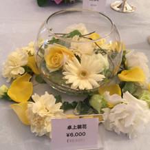 ゲスト卓用お花